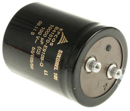 lhk series electrolytic capacitor b41570e9109q epcos aluminium electrolytic capacitor 10000μf 100v dc 64 3mm terminal