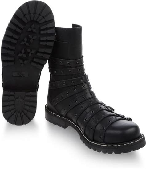 gareth pugh mens boots gareth pugh belted low boot in black for lyst
