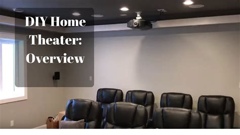Diy Small Home Theater My Diy Basement Home Theater Room Part 1 Overview