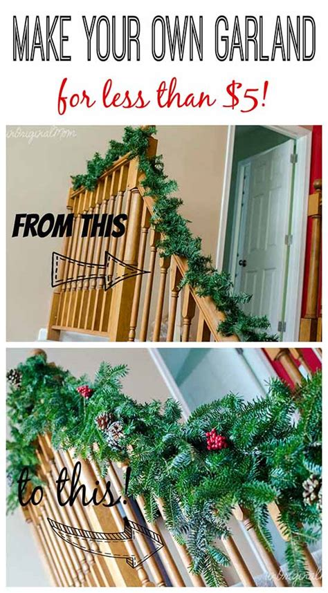 Tree Branch Decorations In The Home make your own garland for less than 5 unoriginal mom