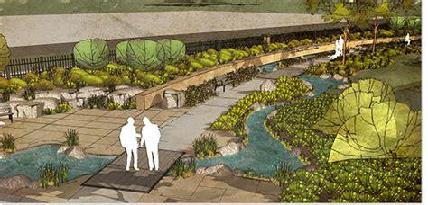 Parking Garage Designs mercy medical healing garden confluence landscape