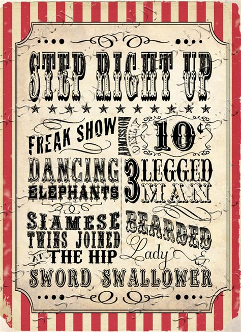 Tips On How To Decorate Your Home Vintage Circus Carnival Posters Signs