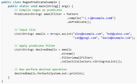 pattern regex exle java java regex as predicate using pattern compile method