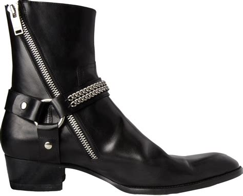 Jo In Harness Chain S laurent chain harness ankle boot in black for lyst