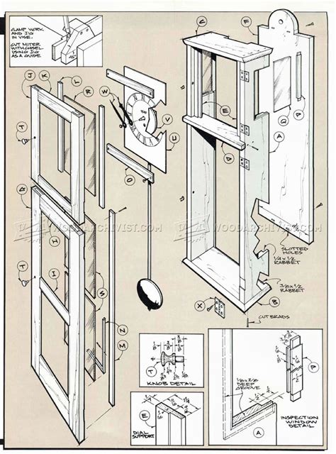 wall clock plans woodworking shaker wall clock plans woodarchivist