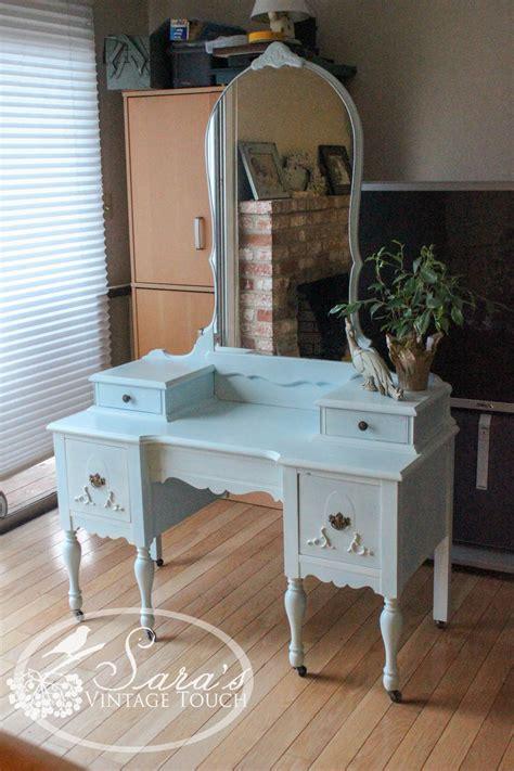 Vintage Bedroom Vanity Table by Antique Makeup Vanity Dressing Table Refinished In