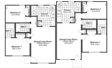modular duplex floor plans home ideas