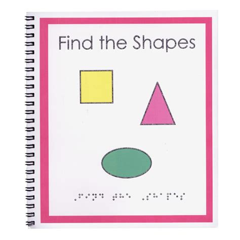 braille picture books childrens braille book find the shapes braille tactile
