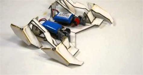 membuat origami robot transformer self folding crawler a transformer style origami robot