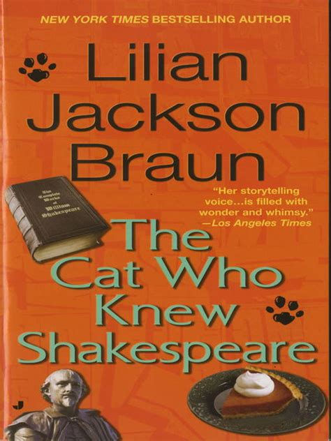 Lilian Jackson Braun The Cat Who Knew Shakespeare 1 the cat who knew shakespeare tuolumne county library