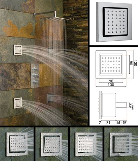 shower with jets on the walls large square jets shower jets stainless steel