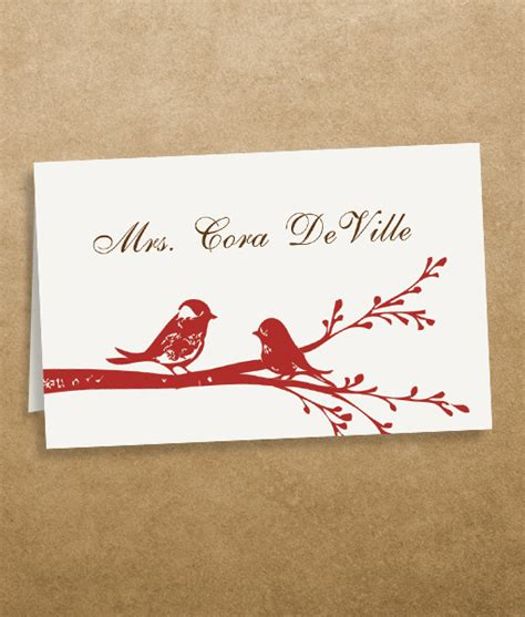 printable wedding place cards template birds place cards template print