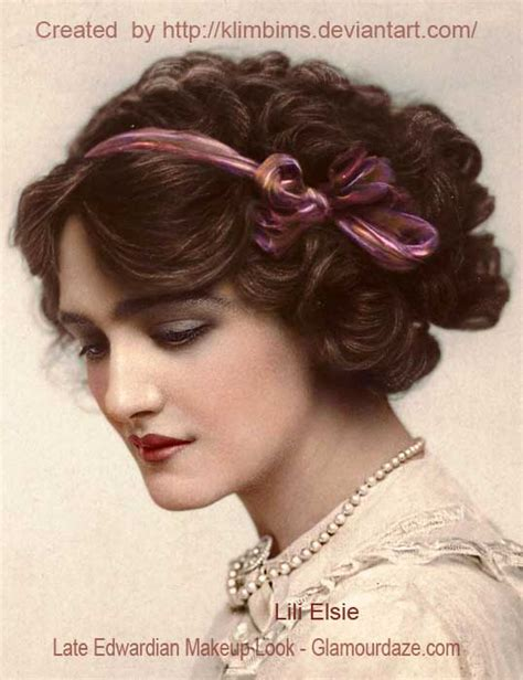 edwardian hair styles the history of makeup 1900 to 1919 glamourdaze