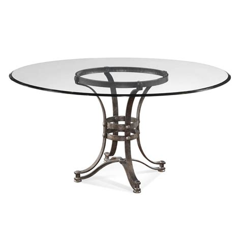 Glass Dining Table With Glass Base Bassett Mirror Tempe Glass Dining Table W Metal Base Beyond Stores