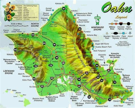 easy printable driving directions free printable map of oahu the island of oahu hawaii