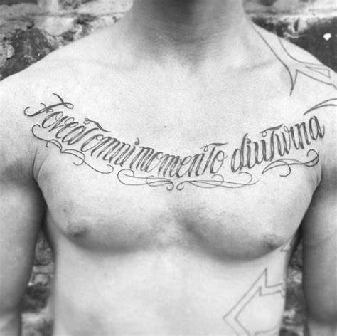 chest tattoo latin 60 latin tattoos for men ancient rome language design ideas