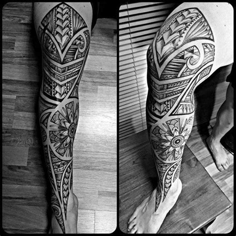 tribal leg sleeve tattoos 60 tribal leg tattoos for cool cultural design ideas