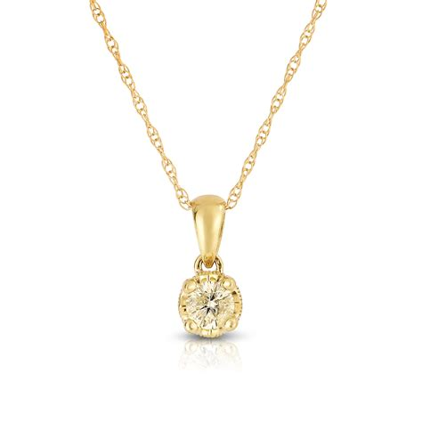 dreambig 10k yellow gold 1 5ct with garnet pendant