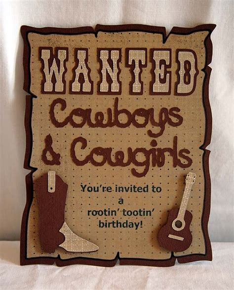 Cowboy Birthday Card Templates by 25 Best Ideas About Cowboy Invitations On
