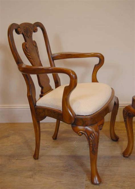 queen armchair 10 english queen anne walnut dining chairs ann chair