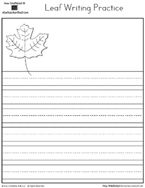 printable fall leaf writing paper free printable writing practice page http printables