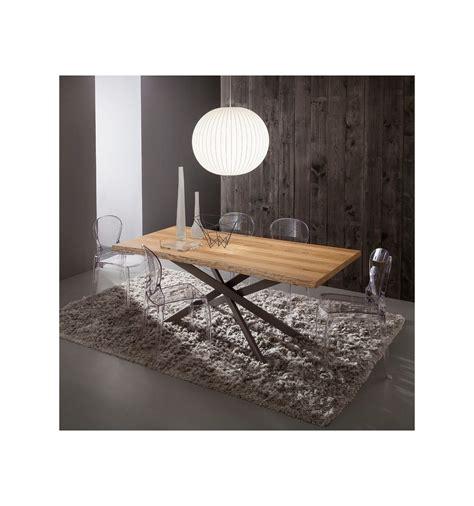 soggiorno con tavolo da pranzo tavolo da pranzo arsenio fisso con piano in legno 170 x 100 cm