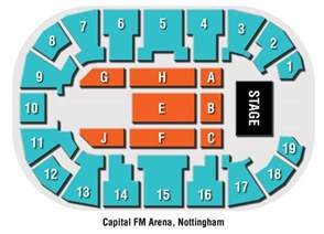 Capital Fm Arena Floor Plan by Image Gallery Nottingham Arena Seating Plan
