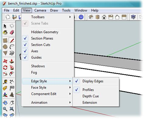 sketchup layout hide guides 1 building a bench your first sketchup model google