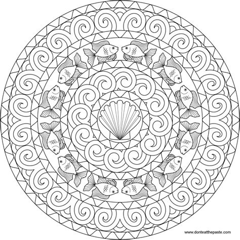 fish mandala coloring page don t eat the paste goldfish mandala to color