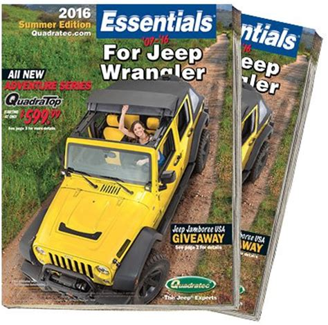 Jk Sweepstakes Promo Code - free 2016 quadratec essentials jeep parts catalog freestuff com