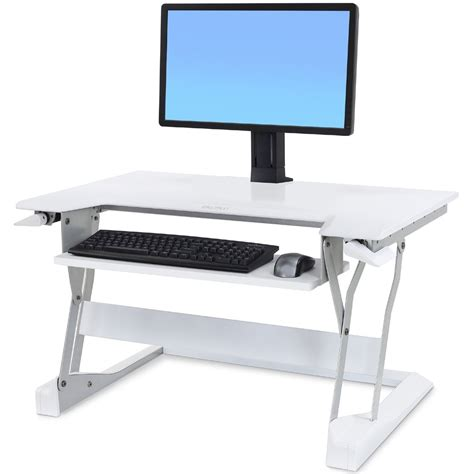 sit stand 33 397 062 ergotron workfit t desktop workstation