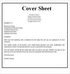 cover sheet template 9 free for word pdf
