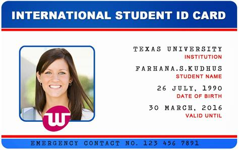 Student Identification Card Template by Id Card Coimbatore Ph 97905 47171 International