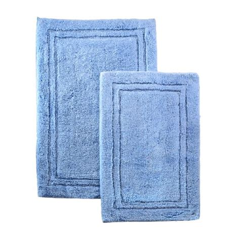 light blue bathroom rugs superior 2 cotton non skid bath rug set light blue