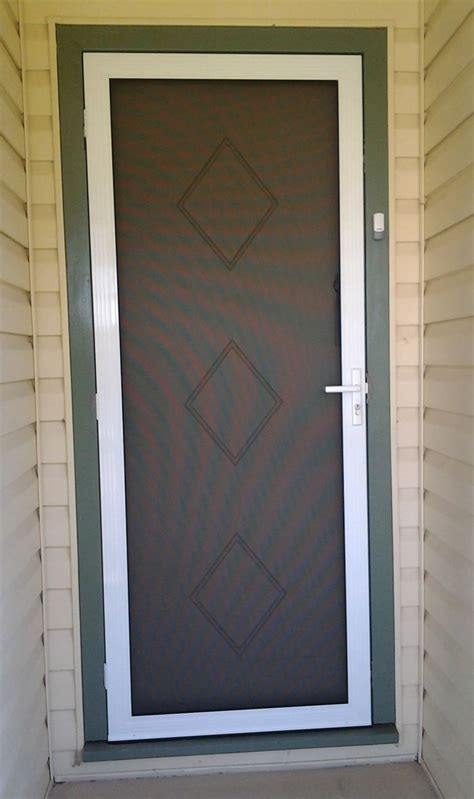 Front Door Security Screens Secureview Hinged Security Screen Door Stainless Steel