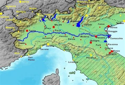 po river map map of italy po river holidaymapq