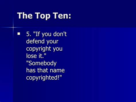 7 Big Myths About Dating by 10 Big Myths About Copyright Explained