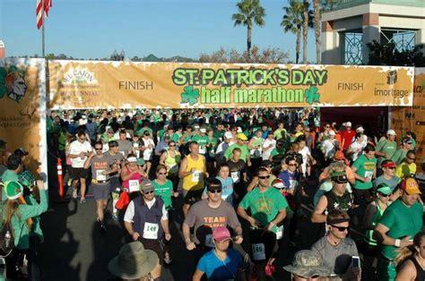 s day marathon st s day half marathon to run lucky in third