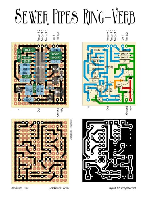 to layout verb perf and pcb effects layouts sewer pipes ring verb