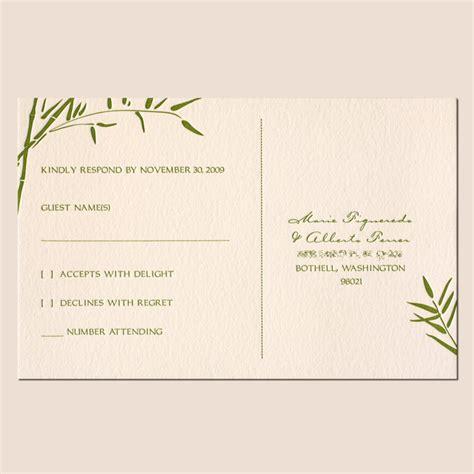 exles of wedding response cards best photos of wedding invitations rsvp exles wedding