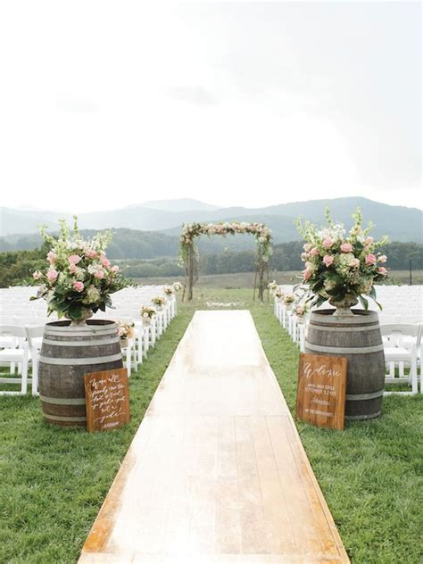Wedding Aisle Decorations Rustic by Ideas To Incorporate Wine Barrels In Rustic Wedding
