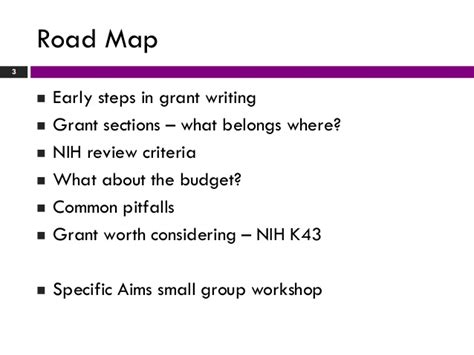 nih grant sections grant writing workshop