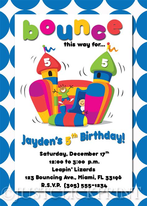 bouncy printables bounce house birthday invitation printable 183 just click