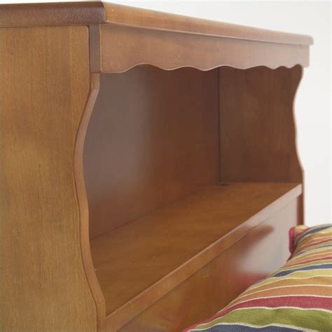 maple bookcase headboard wood bookcase headboard in maple 51a65x