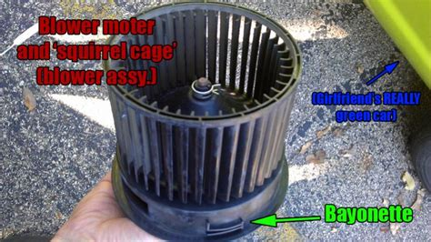 how to remove blower fan from a motor in a 1993 dodge d150 blower motor removal super easy