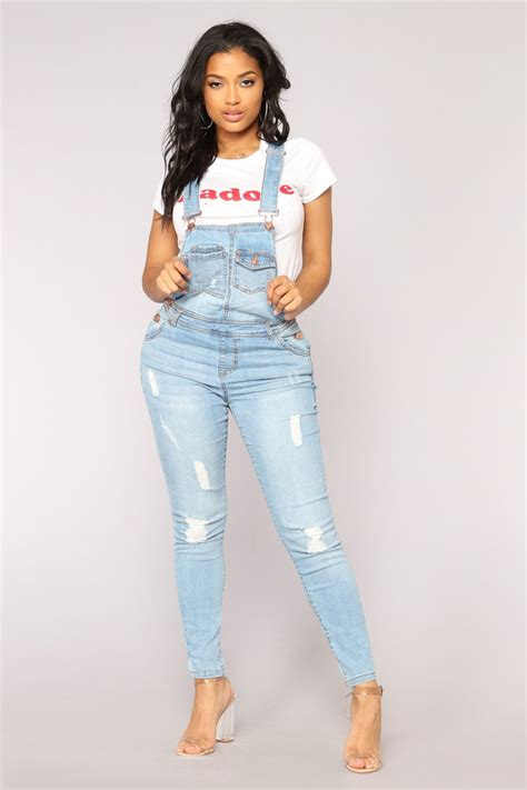 Prilly Overall Blue 1 womens boyfriend denim high waisted ripped