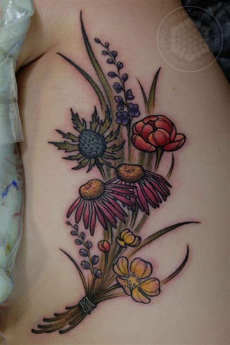 logan tattoo wildflower bouquet by me logan bramlett wanderlust
