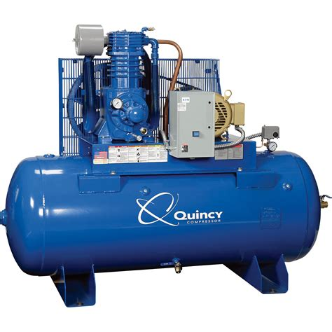 free shipping quincy compressor qp pressure lubricated reciprocating air compressor 10 hp
