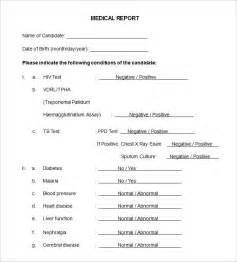 Medical Report Template   9 Free Word, PDF Documents