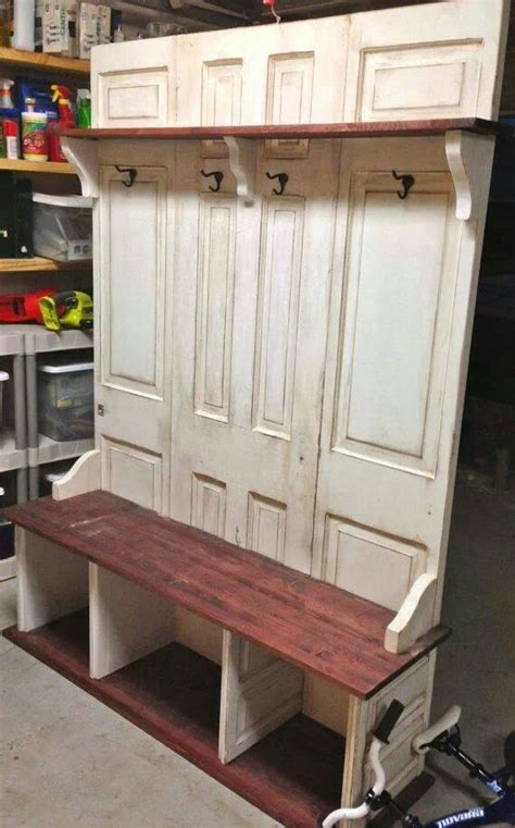 benches made from old doors old doors make a great bench new home pinterest